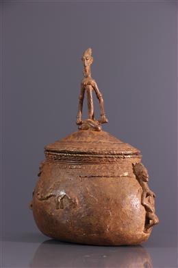 Boîte à onguents Dogon en bronze