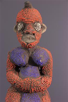 Statue Bamileke perlée