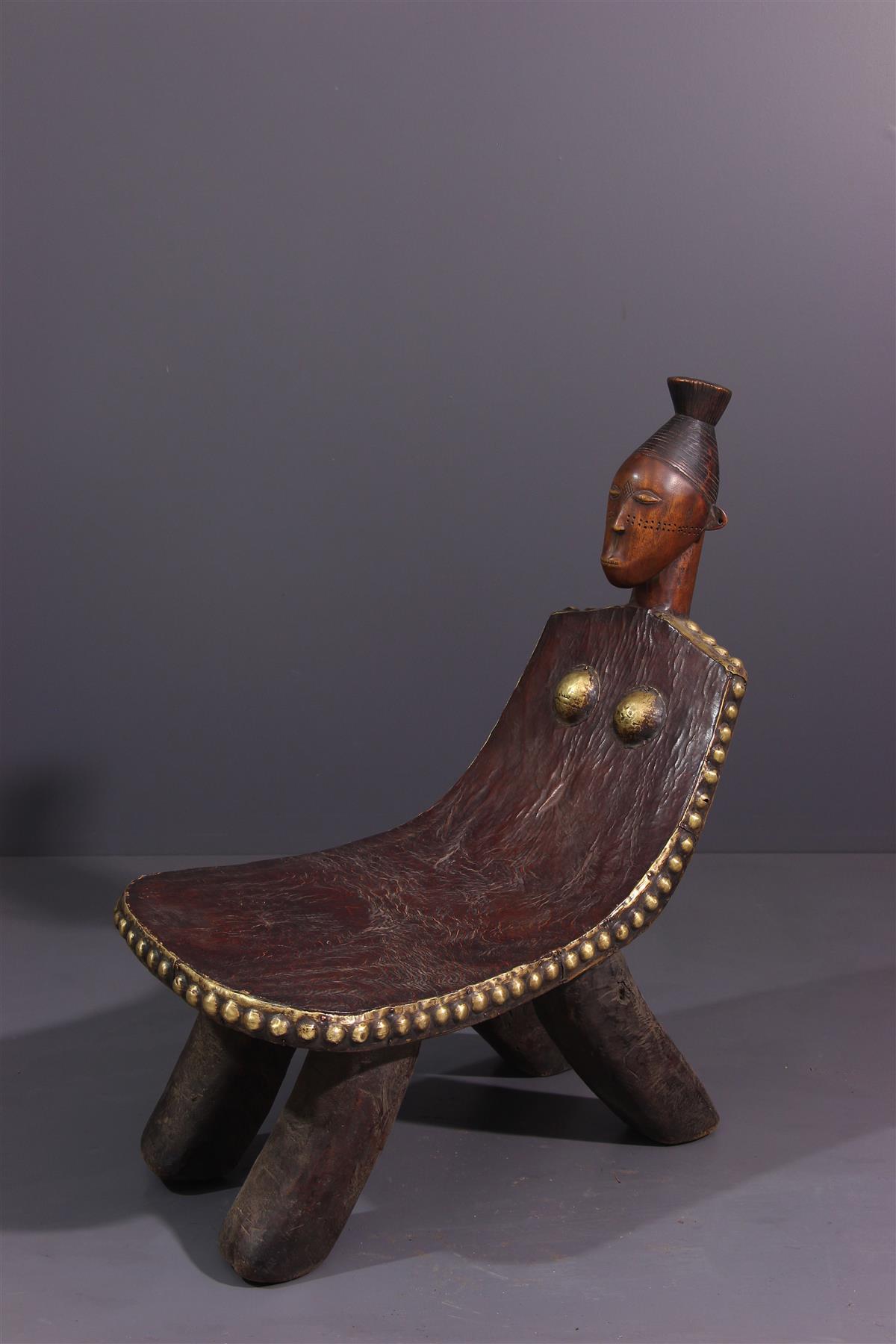 Tabouret Mangbetu - Art africain