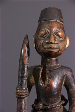 Statuette de cavalier Yoruba