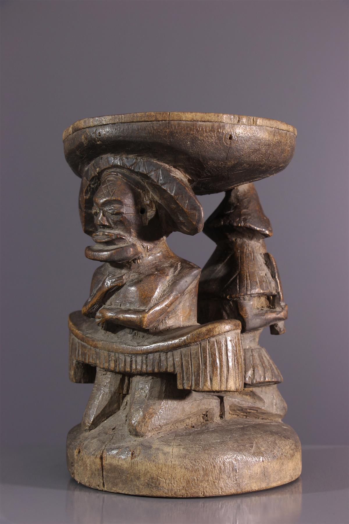 Tabouret Chokwe - Art africain