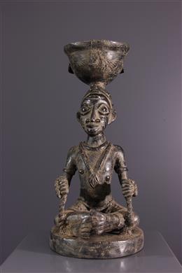 Coupe de divination Agere Ifa en bronze