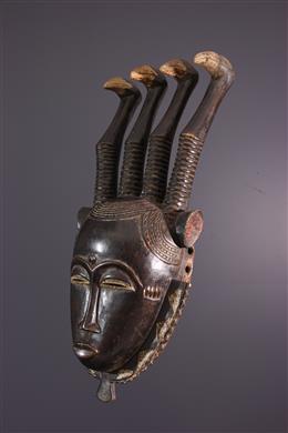 Art africain - Masque facial Lomane Yahouré, Yaoure