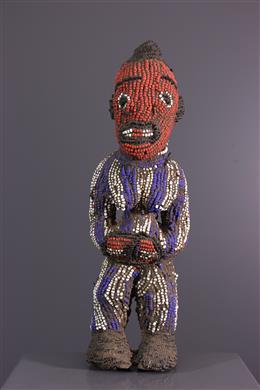 Statuette perlée Bamileke