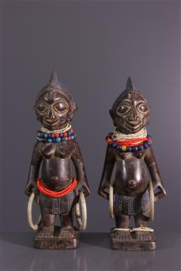 Couple de statuettes Ibeji Ere Yoruba