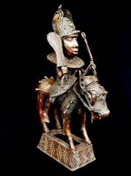 Figure équestre royale Bini Edo