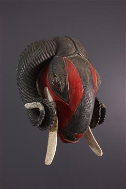 Masque zoomorphe Baoulé, Baule