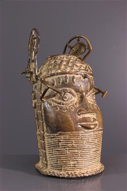 Tête commémorative Bénin en bronze
