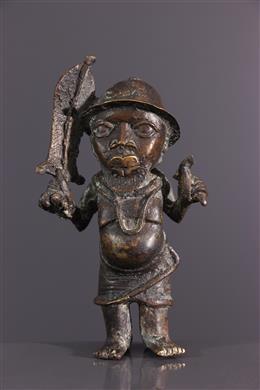 Figure d autel Bénin en bronze