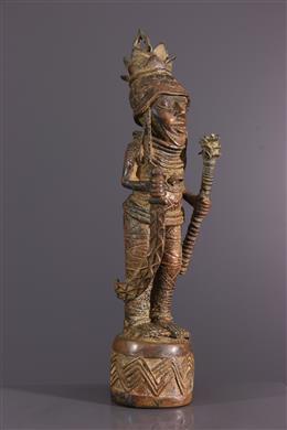 Figure de dignitaire Bénin en bronze