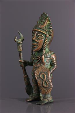 Figure de dignitaire Bénin bronze