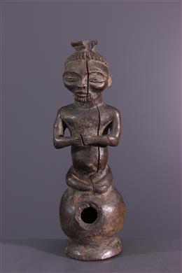 Statuette Chokwe Luena pipe