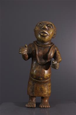 Art africain - Nain de cour Bénin en bronze