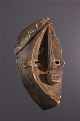 Art africain - Masque Nkaaki - Lwalwa Lwalu - Congo RDC