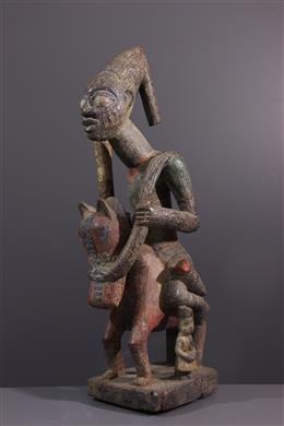 Statue de cavalier Yoruba