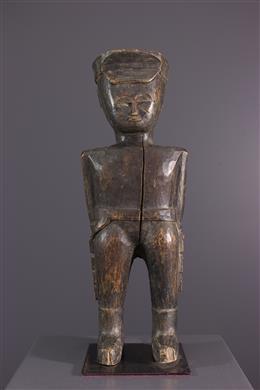 Art africain - Statue de colon Baoulé