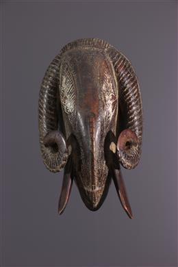 Masque Baoulé bélier passeport