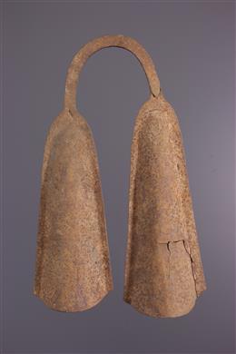 Double cloche rituelle Bamileke