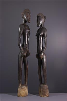 Couple de statues Deblé Senoufo