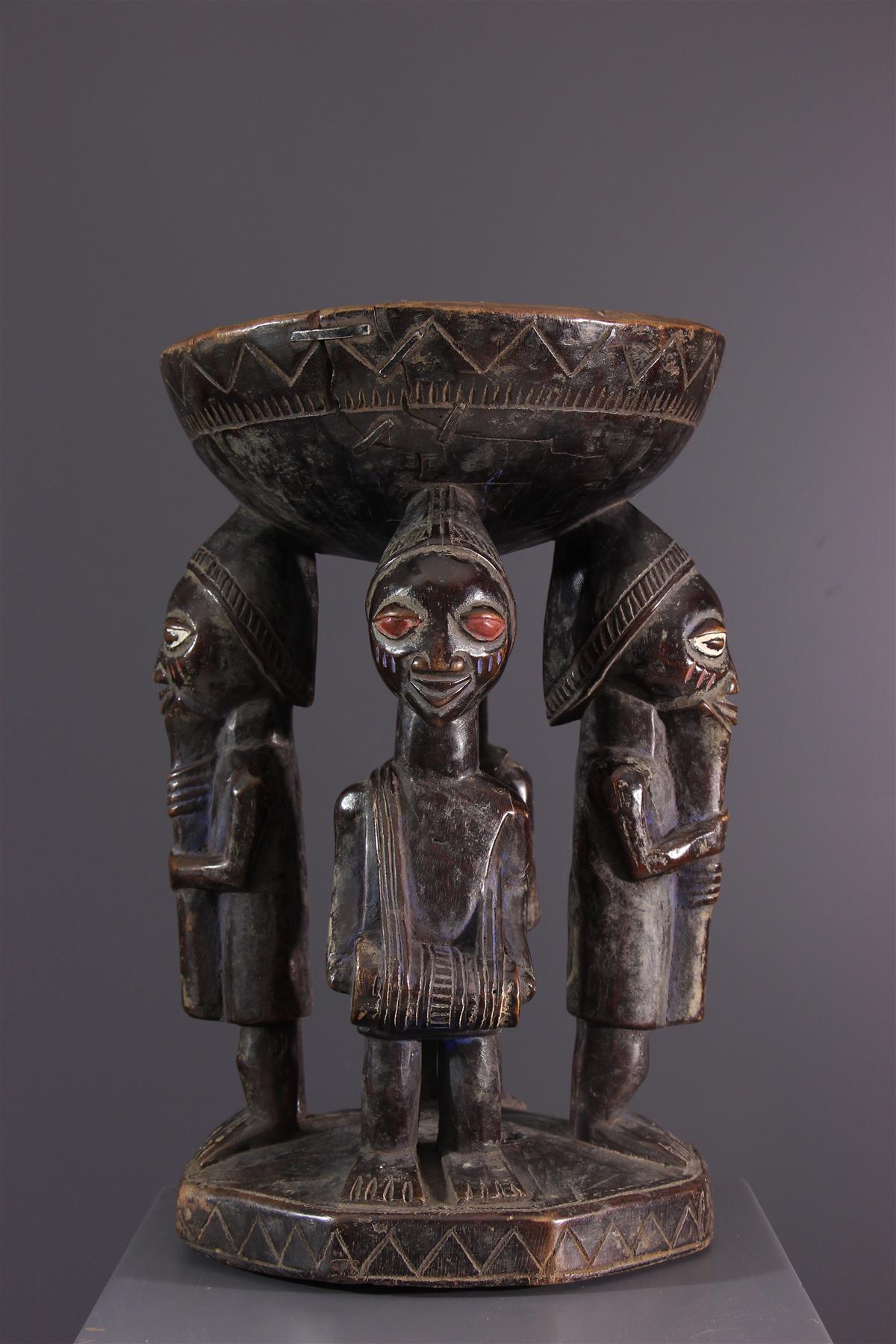 Tabouret Yoruba - Art africain