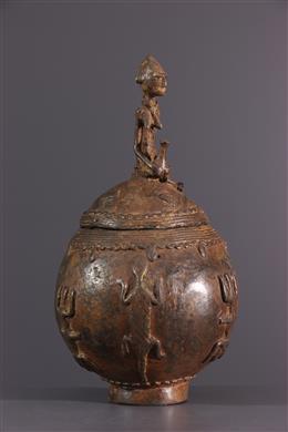 Boite à onguents Dogon en bronze