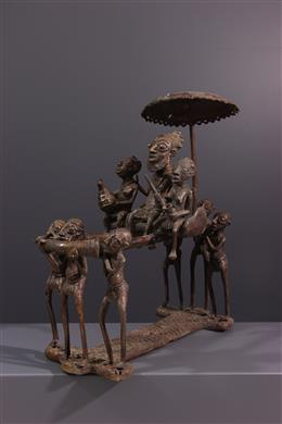 Sculpture en bronze Bamoun