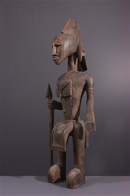 Statue masculine Bambara Guantigui