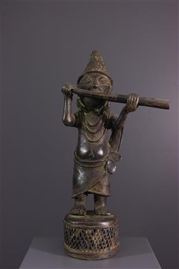 Joueur de cor Bénin en bronze
