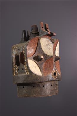 Masque heaume Bembé polychrome
