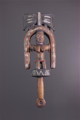 Sceptre Oshe Shango Yoruba polychrome