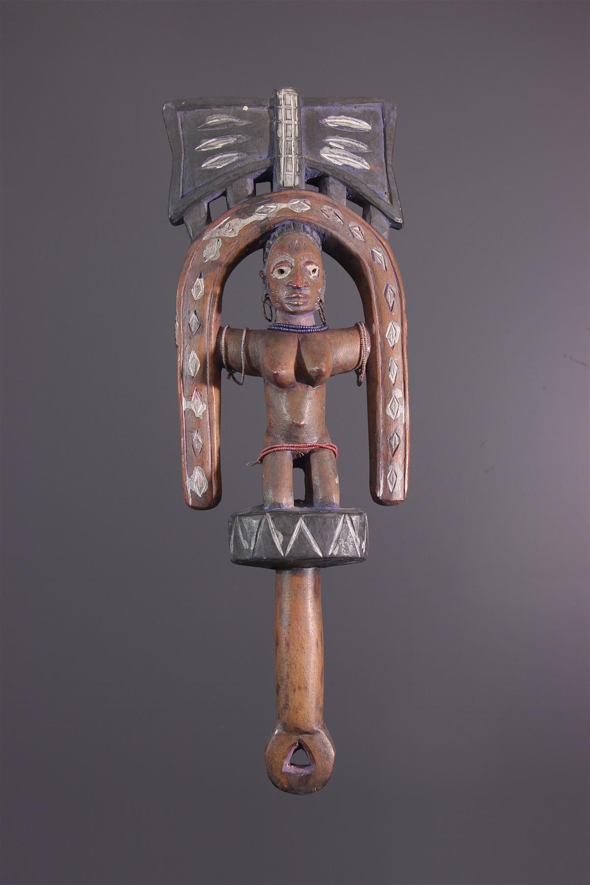 Sceptre Yoruba - Art africain