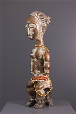 Art africain - Figure féminine assise Akye, Attié