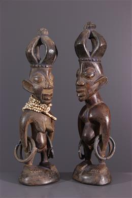 Couple de statuettes Ere Ibedji Yoruba
