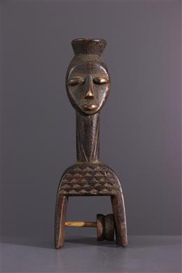 Art africain - Etrier de métier à tisser Baule