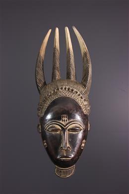 Masque à cornes Baule Côte d Ivoire