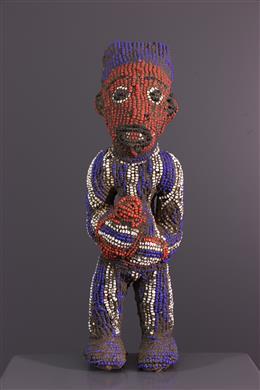 Art africain - Statuette perlée Bamileke