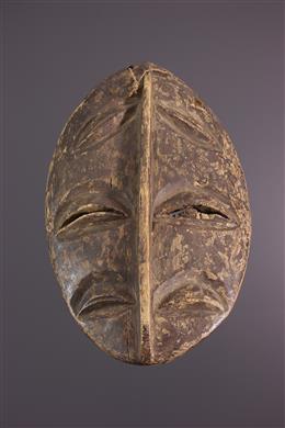 Art africain - Masque facial Kwele, Bakwele