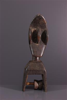 Art africain - Etrier de poulie de métier à tisser Kran
