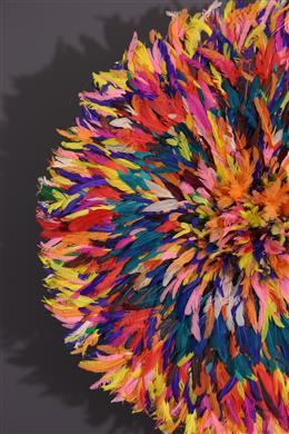 Art africain - Coiffe à plumes Juju Bamileke