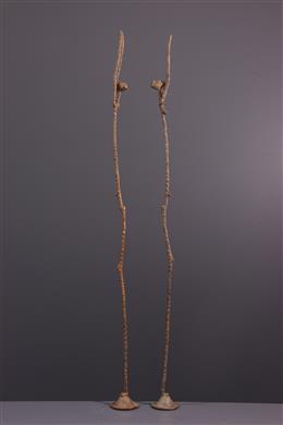 Art africain - Figures de couple Dogon en bronze