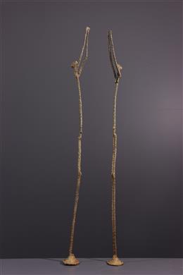 Couple Dogon en bronze