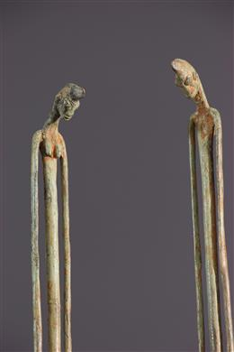 Art africain - Couple Dogon en bronze
