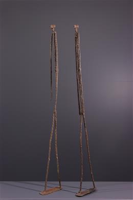 Couple primordial Dogon en bronze