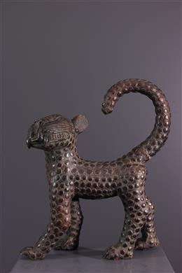 Leopard Benin en bronze