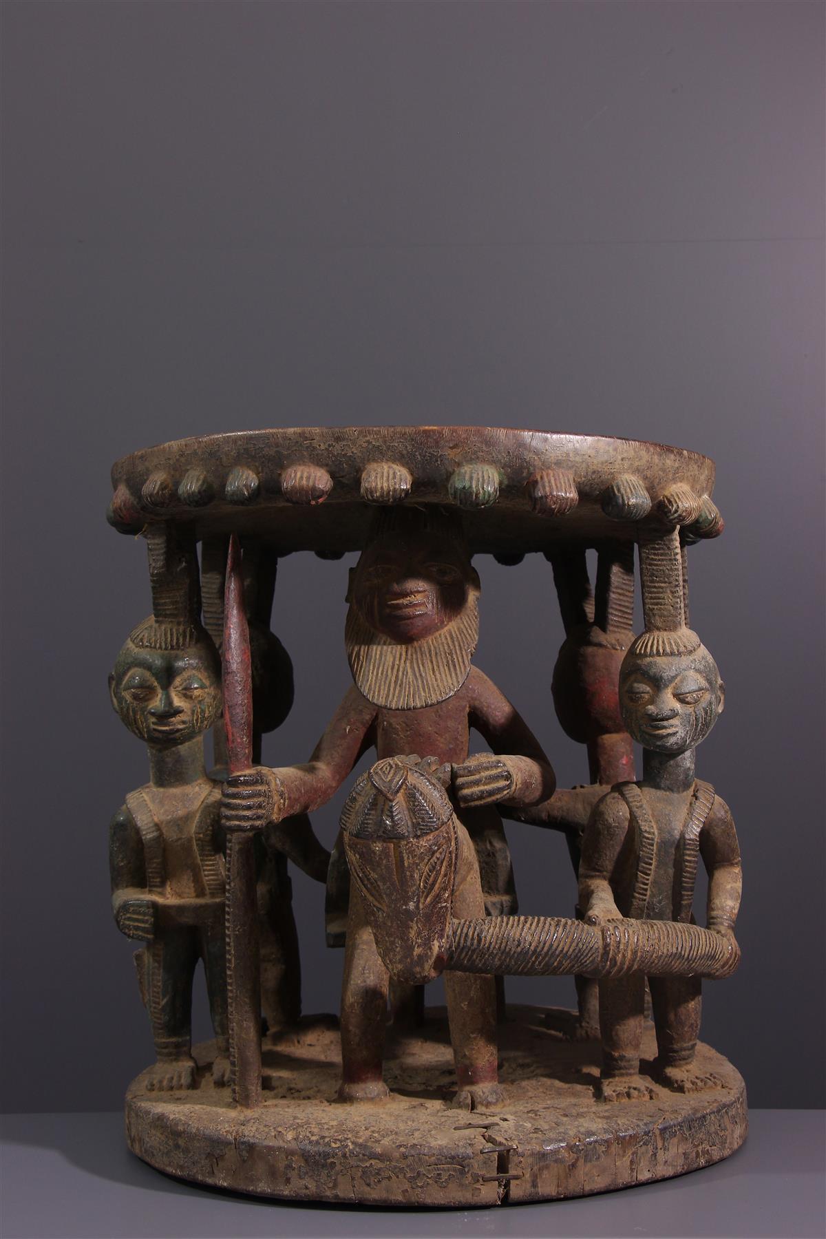 Siège Yoruba - Art africain