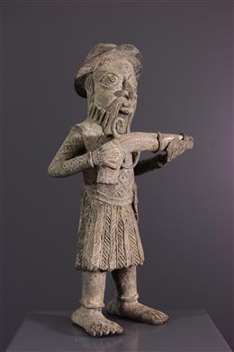 Effigie de colon portugais en bronze - Bini Edo - Bénin