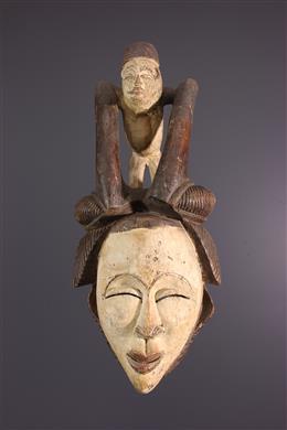 Masque africain Lumbu du Gabon