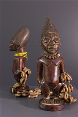 Art africain - Couple de statuettes Ibedji Yoruba