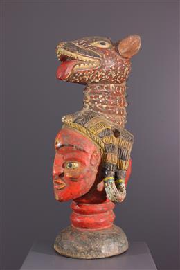 Art africain - Masque cimier Baga janiforme