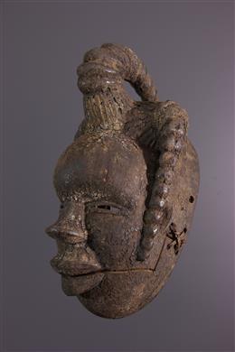 Masque Ogoni à mâchoire mobile